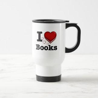 I Heart Books! I Love Books! (Shadowed Heart) Stainless Steel Travel Mug