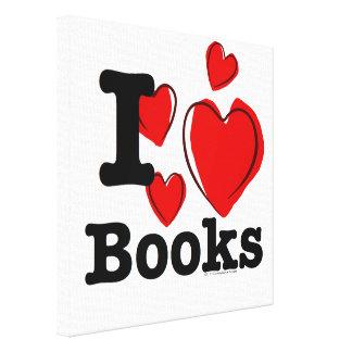 I Heart Books I Love Books Sketchy Heart Canvas Prints