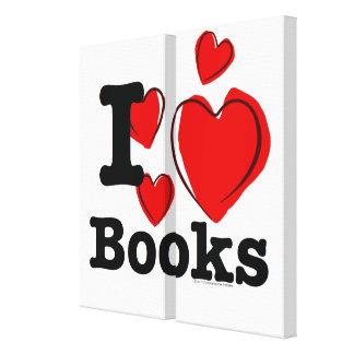 I Heart Books! I Love Books! (Sketchy Heart) Canvas Prints