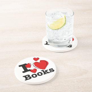 I Heart Books! I Love Books! (Sketchy Heart) Coaster