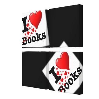 I Heart Books! I Love Books! (Trail of Hearts) Canvas Prints