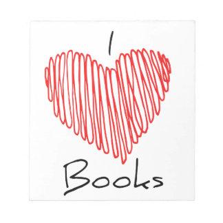 I Heart Books Notepads