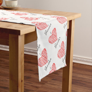 I Heart Books Short Table Runner