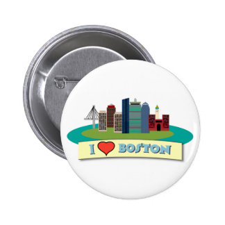 I Heart Boston 6 Cm Round Badge