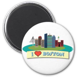 I Heart Boston 6 Cm Round Magnet