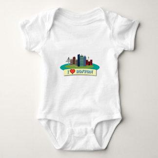 I Heart Boston Baby Bodysuit