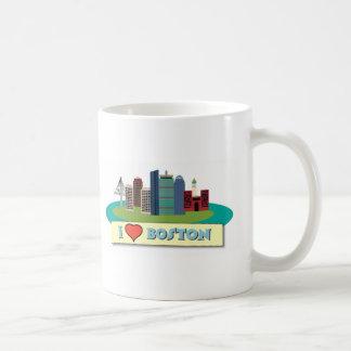 I Heart Boston Basic White Mug