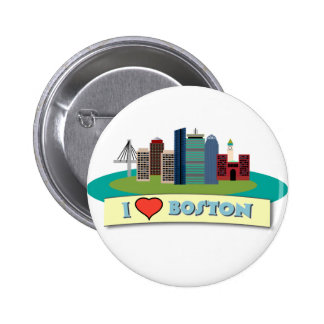 I Heart Boston Buttons