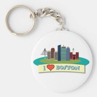 I Heart Boston Keychains