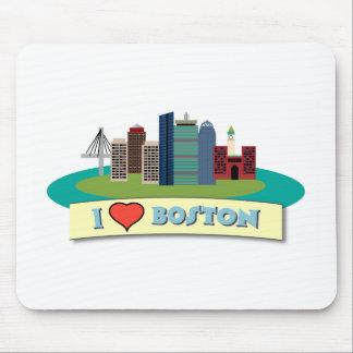 I Heart Boston Mouse Pad