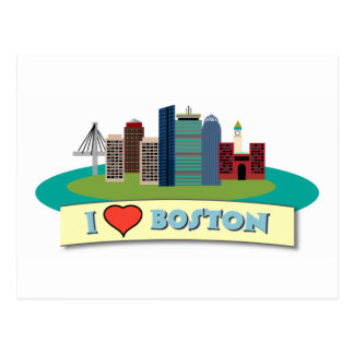 I Heart Boston Postcard