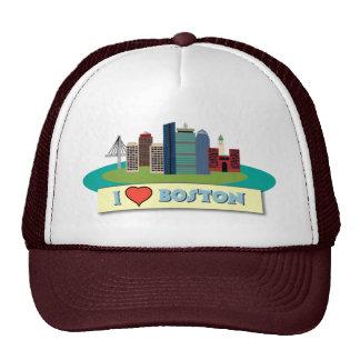 I Heart Boston Trucker Hats