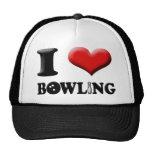 I Heart Bowling Hat