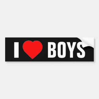 """I Heart Boys"" Bumper Sticker"