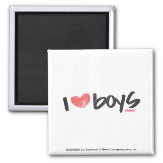 I Heart Boys Pink Refrigerator Magnets