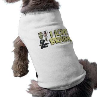 I Heart Brains 2 Pet Shirt