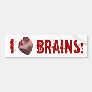 I Heart Brains! Bumper Sticker