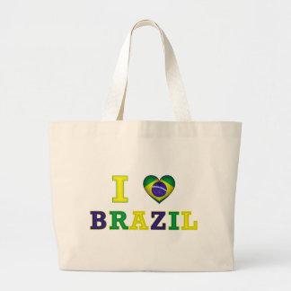 I Heart Brazil Large Tote Bag