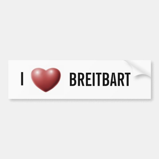 I Heart Breitbart Bumper Sticker