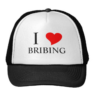 I Heart BRIBING Trucker Hats