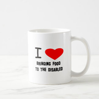 I Heart Bringing Food To The Disabled Coffee Mugs