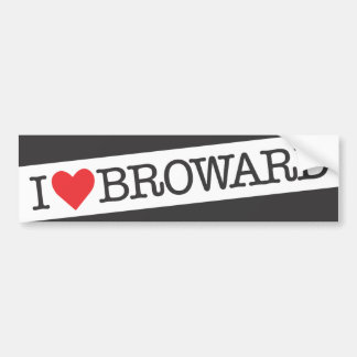 I heart Broward county florida Car Bumper Sticker