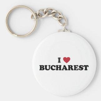I Heart Bucharest Romania Key Ring