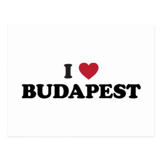 I Heart Budapest Hungary Postcard