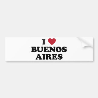 I Heart Buenos Aires Argentina Bumper Sticker