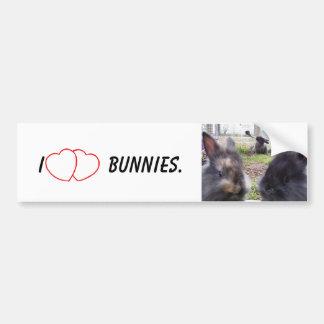 I Heart Bunnies Bumper Sticker