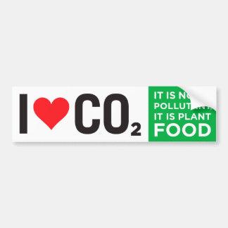 I Heart C02 Bumper Sticker Car Bumper Sticker