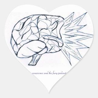 I Heart C&F Podcast Heart Sticker