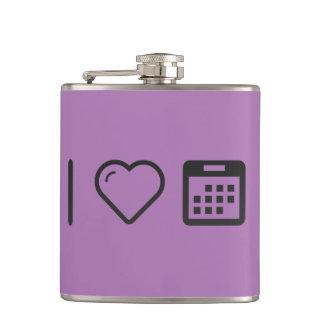 I Heart Calendar Events Flasks