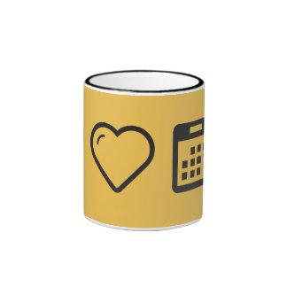 I Heart Calendar Events Ringer Mug