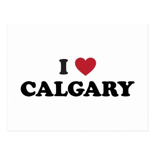 I Heart Calgary Canada Postcards