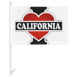I Heart California Car Flag