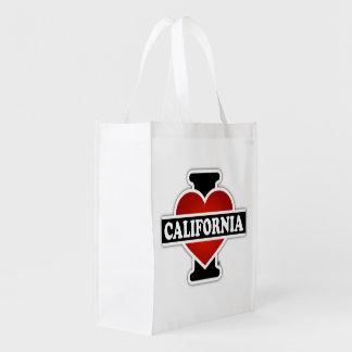I Heart California Reusable Grocery Bag