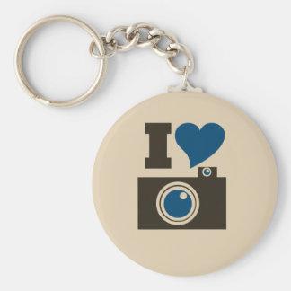 I Heart Camera Basic Round Button Key Ring