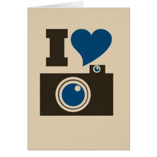 I Heart Camera Card