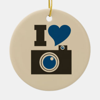 I Heart Camera Christmas Ornament