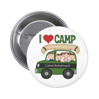 I Heart Camp Pinback Button