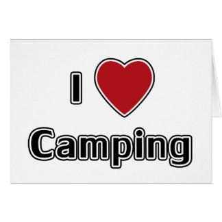 I Heart Camping Greeting Card