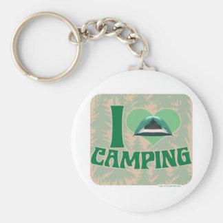 I Heart Camping Keychain