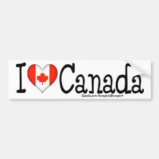 I HEART CANADA BUMPER STICKER
