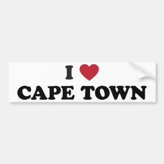 i Heart Cape Town South Africa Bumper Sticker