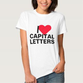 I Heart Capital Letters T Shirts