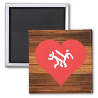 I Heart capoeira Vector Square Magnet