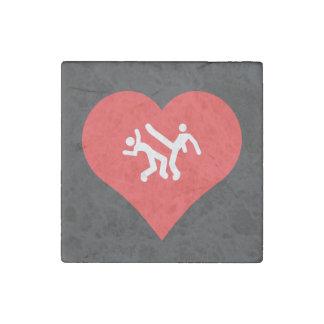 I Heart capoeira Vector Stone Magnet