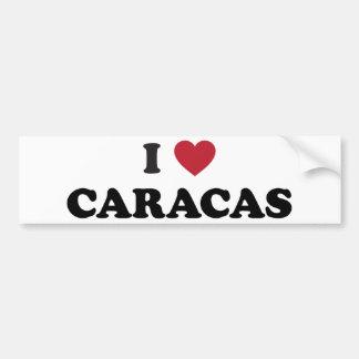 I Heart Caracas Venezuela Bumper Sticker
