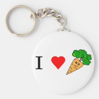 I heart Carrots Key Ring